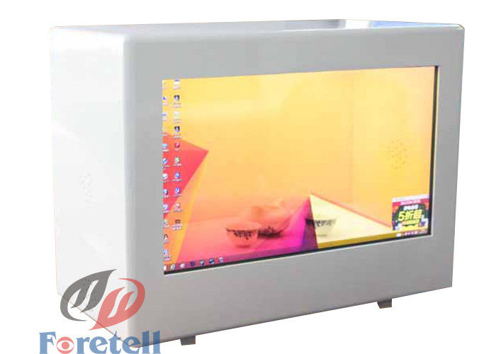 Exhibition Transparent Lcd Showcase , Transparent Touch Display Support Lan / WiFi / 3G