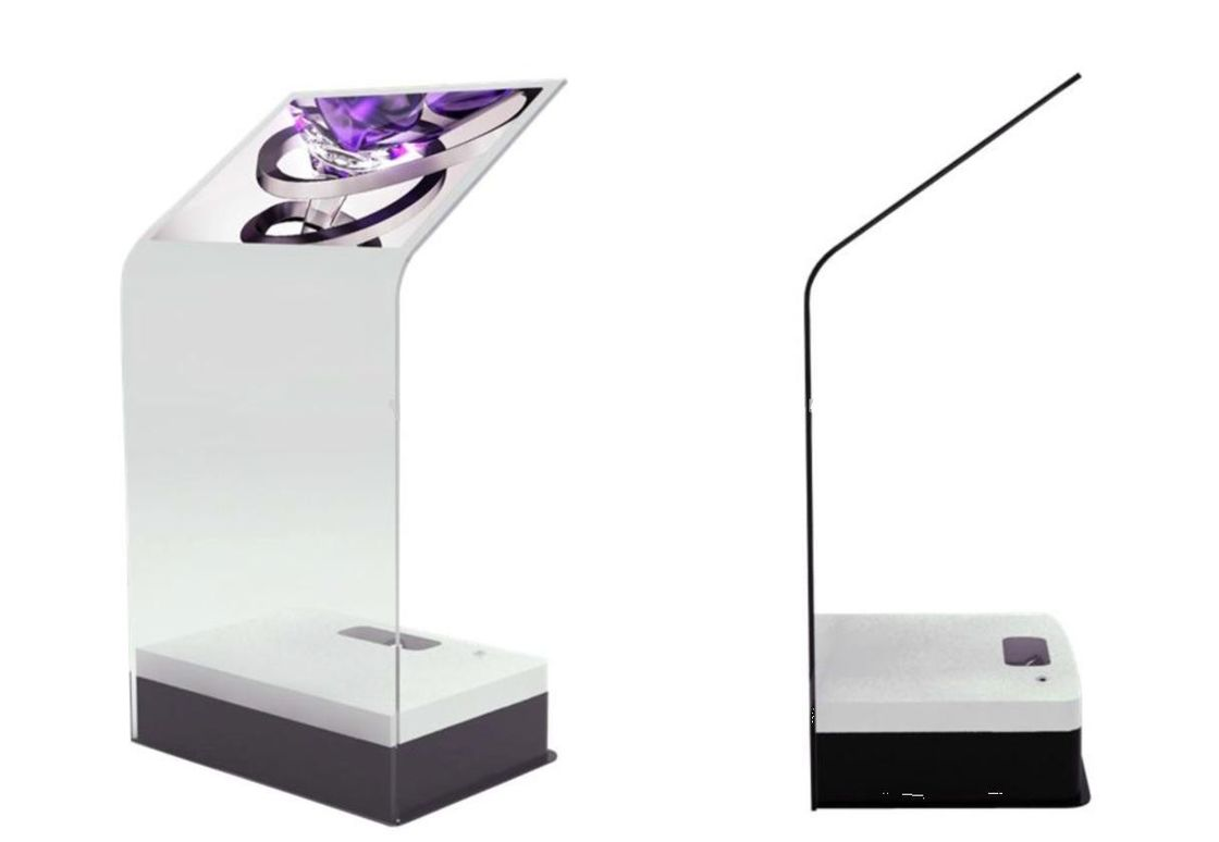 30 Inch Transparent Interactive Touch Screen Foil Kiosk Rear Laser Projection Film Touch Glass